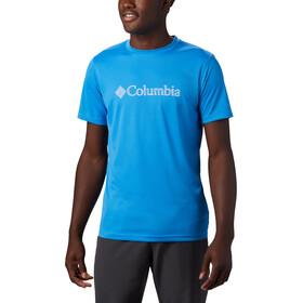 Columbia Zero Rules Graphic Short Sleeve Shirt Men azure blue topo lines